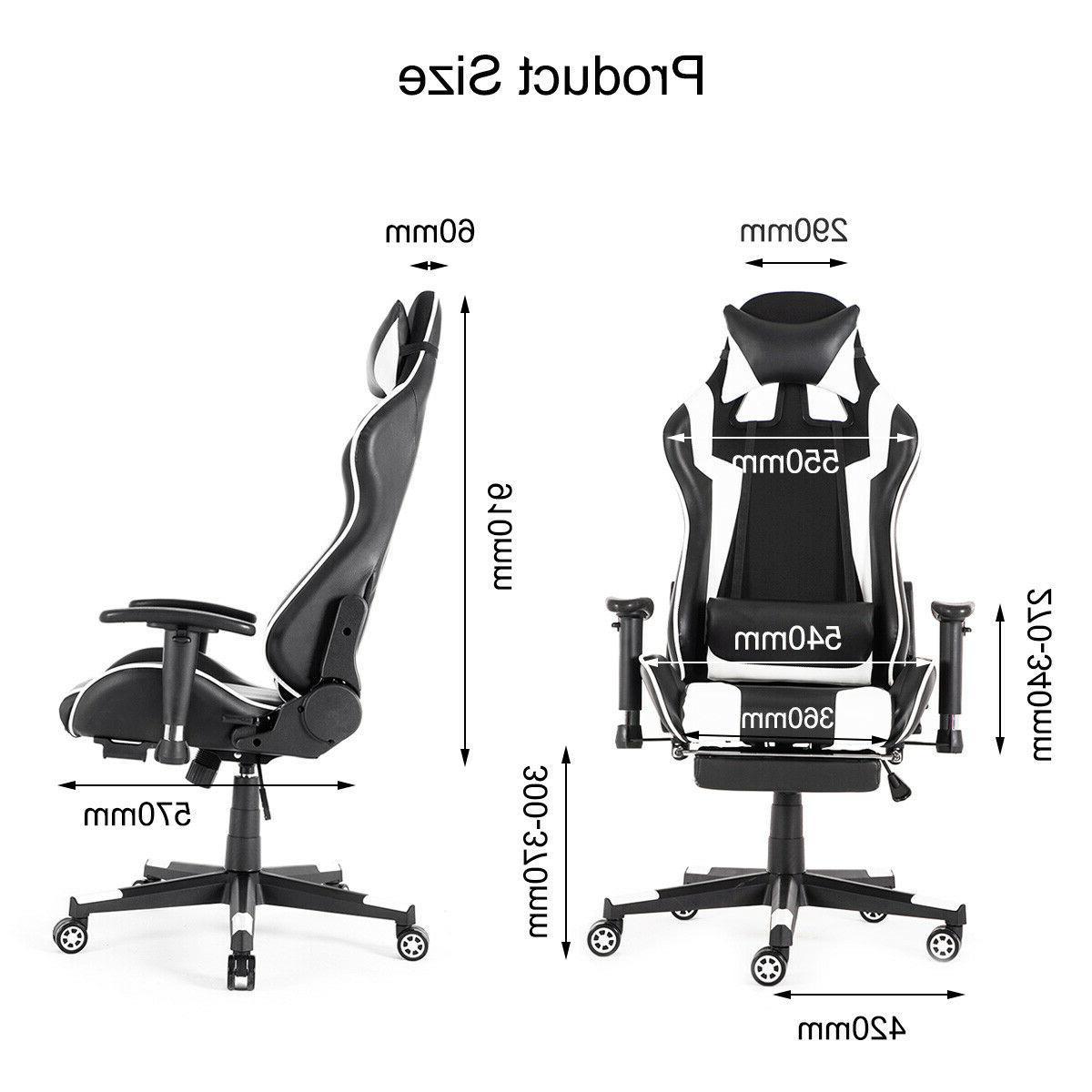 Racing Gaming Chair Ergonomic Desk Seat