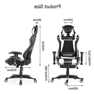 Racing Gaming Leather Desk Seat