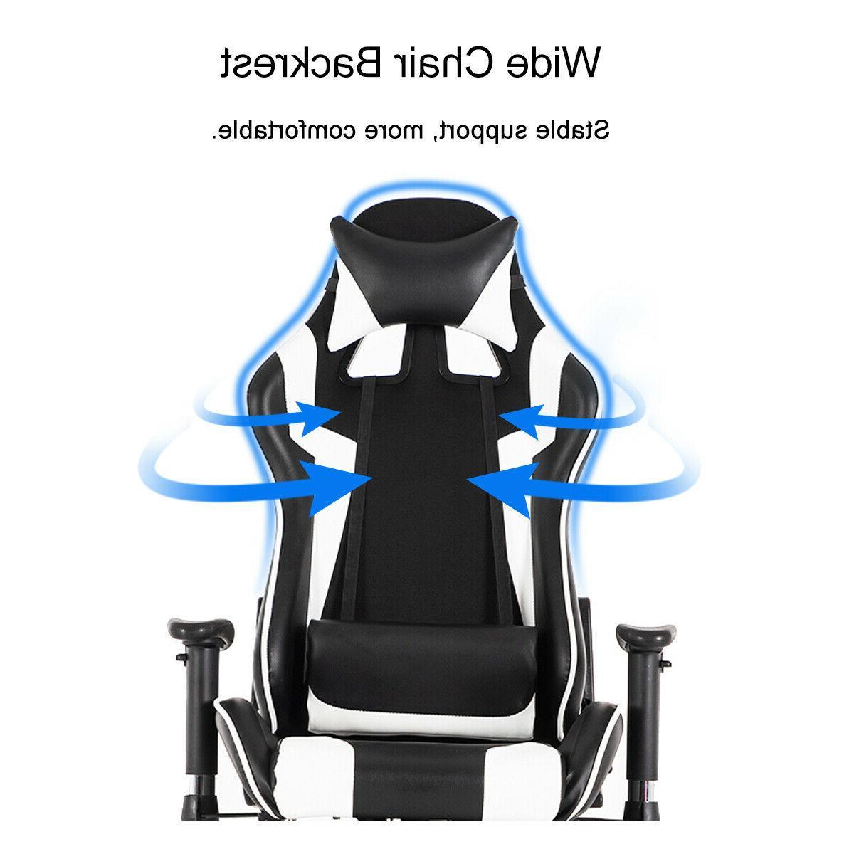 Racing Ergonomic Leather Swivel Office Desk