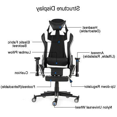 Racing Ergonomic Leather Computer Desk