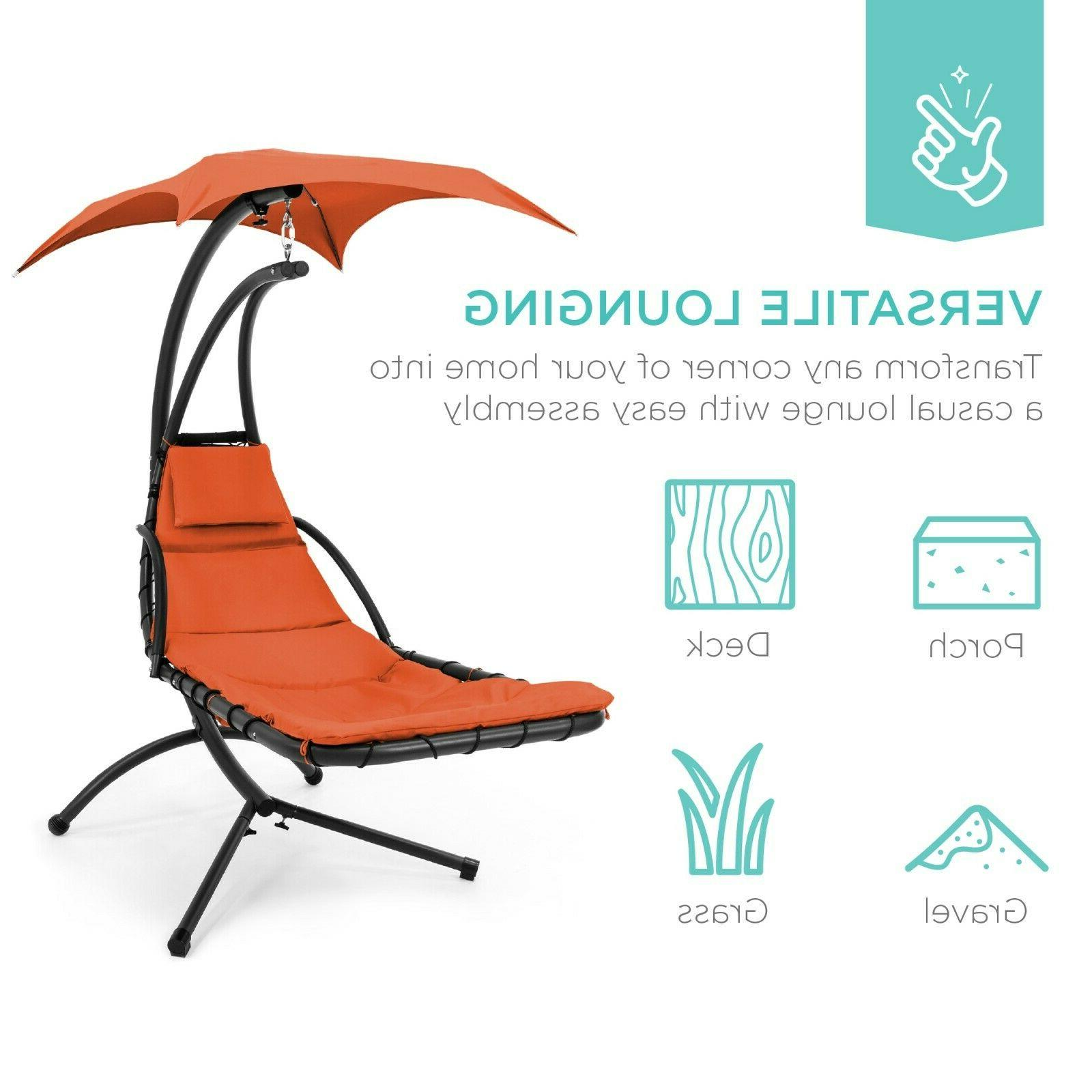 Chaise Chair Swing with Removable Canopy