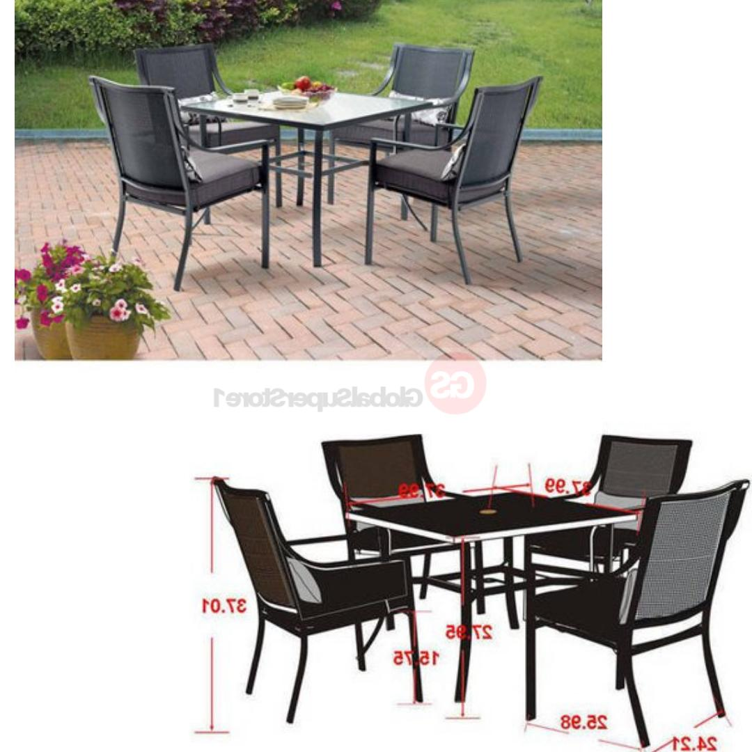 Patio Furniture Set Outdoor Dining Table Sets Clearance 5 Pi