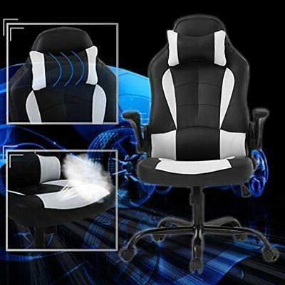 PC Chair Office Cheap Desk Lumbar Support Arms PU