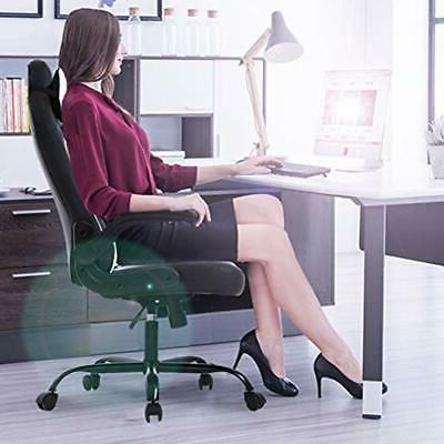 PC Gaming Office Desk With Lumbar Support Arms PU