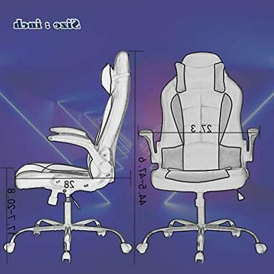 PC Gaming Ergonomic Office Desk Support Flip Headrest