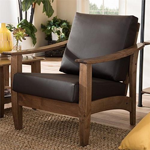 pierce faux leather lounge chair