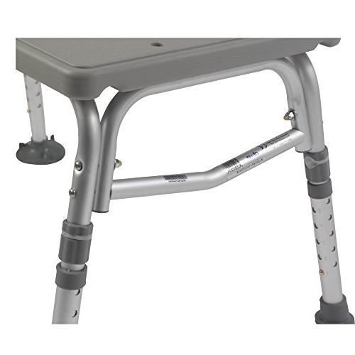 Drive Medical Plastic Tub Transfer with Backrest, Gray