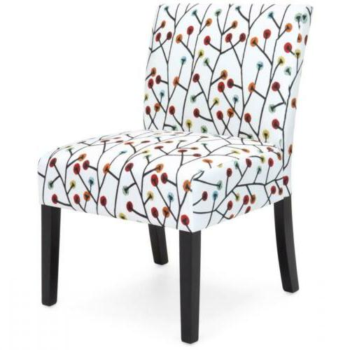 Best Polyester Upholstered Accent Chair with Floral...