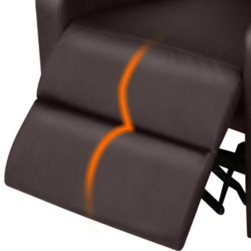 PU Leather Recliner Living Single Sofa Home Theater Seating