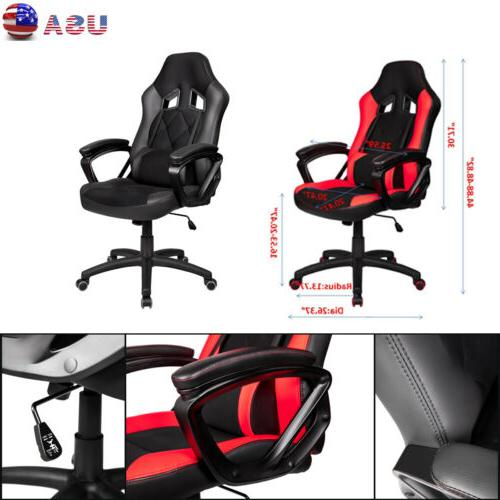 Video Gaming Chair High Back Racing Leather Home Office Desk