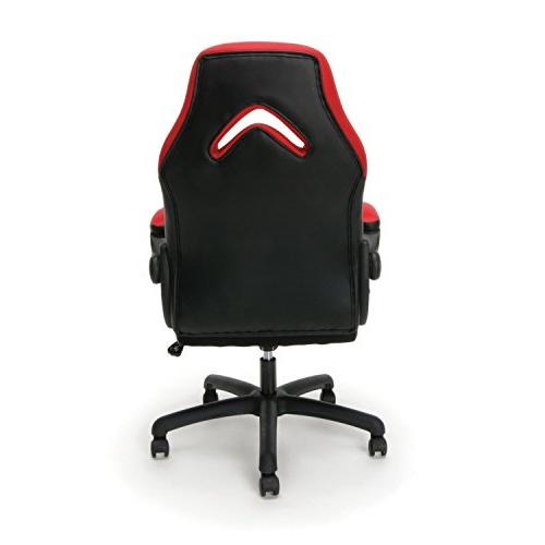 Essentials Style Gaming Swivel Computer, Gaming Chair, Red