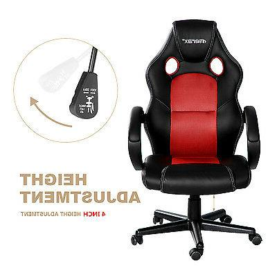 SALE! Merax Gaming Chair Back PU Leather Mesh Office Chair