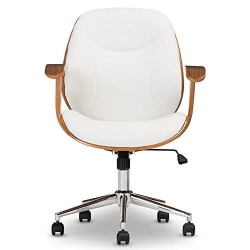 Rathburn Office Chair in White Walnut