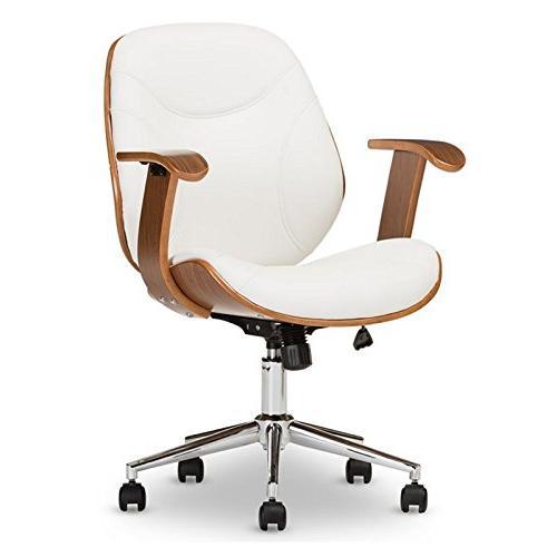 rathburn office chair white walnut