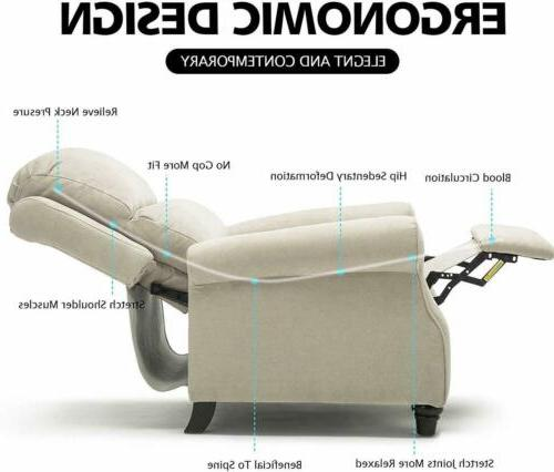 Recliner Chair back Padded Seat with Headrest