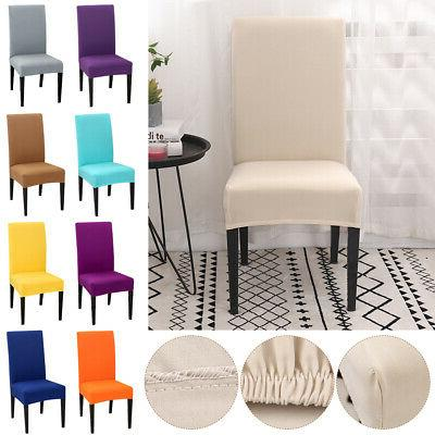 US Stretch Dining Chair Covers Slipcovers Removable Banquet