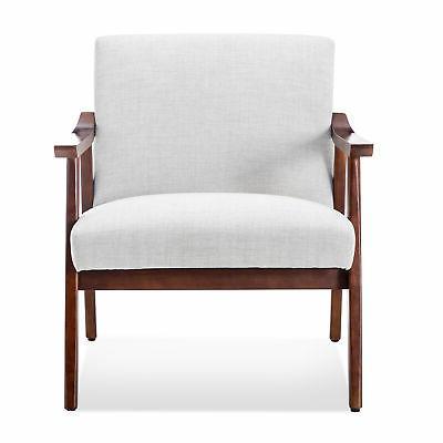 Retro Accent Armchair, Light