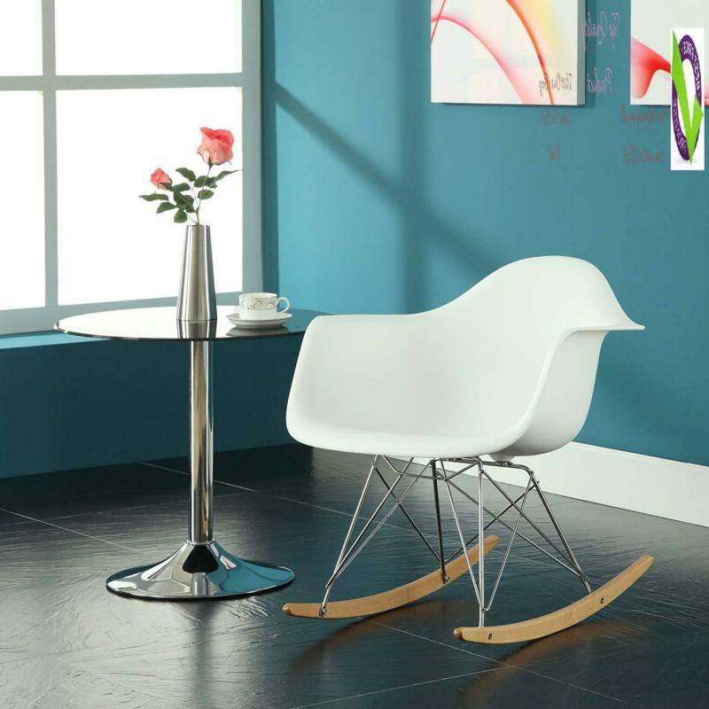 Modway Rocker Mid-Century Modern Molded Plastic Living Room