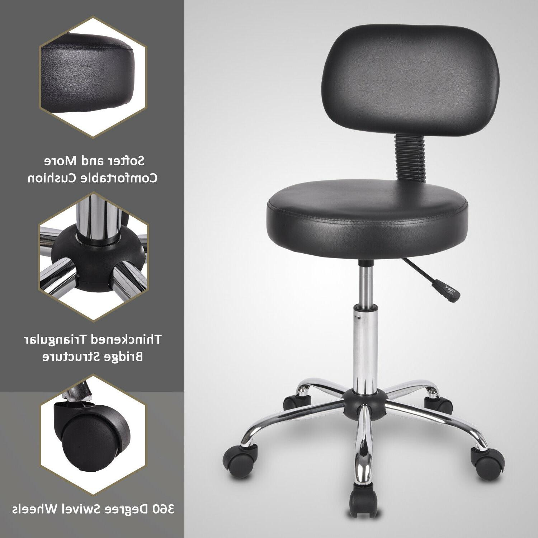 Rolling stool Bar stool Drafting Stool With Wheel Height Adj