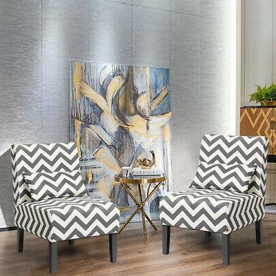 Set of Accent Chair Room Chair with Gray