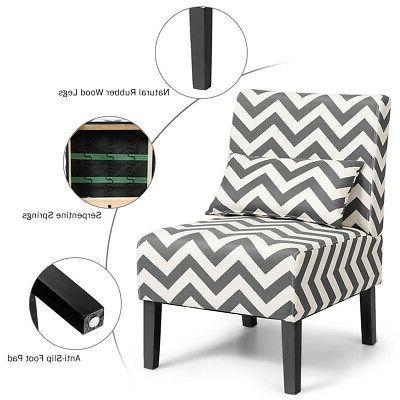 Set Chair Gray Chevron
