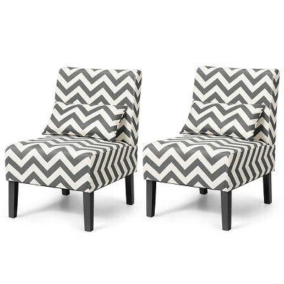 set of 2 armless accent chair living