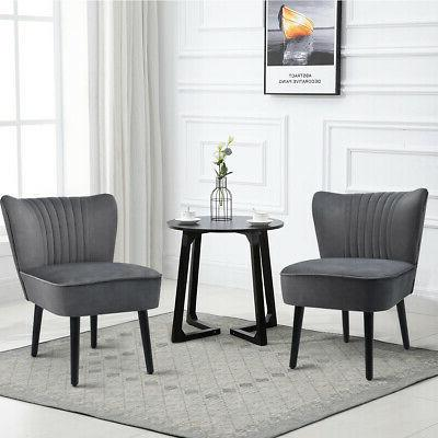 Set of Accent Chair Chair Single Sofa Grey