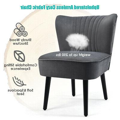 Set Accent Chair Upholstered Leisure Chair Single Sofa Grey