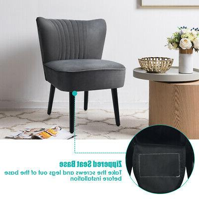 Set Accent Upholstered Chair Dark Grey