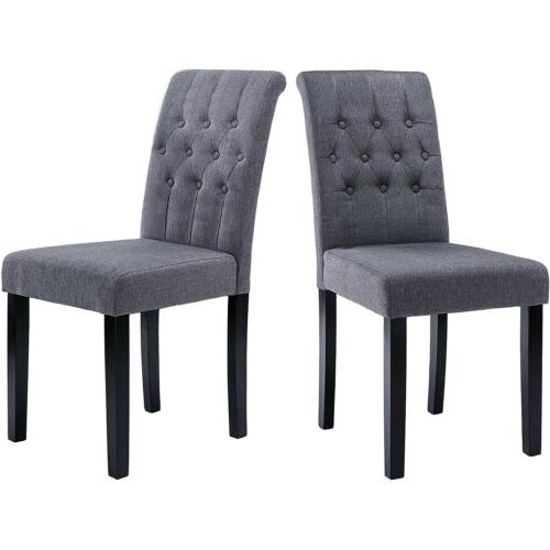 Set of Fabric Dining Upholstered Legs