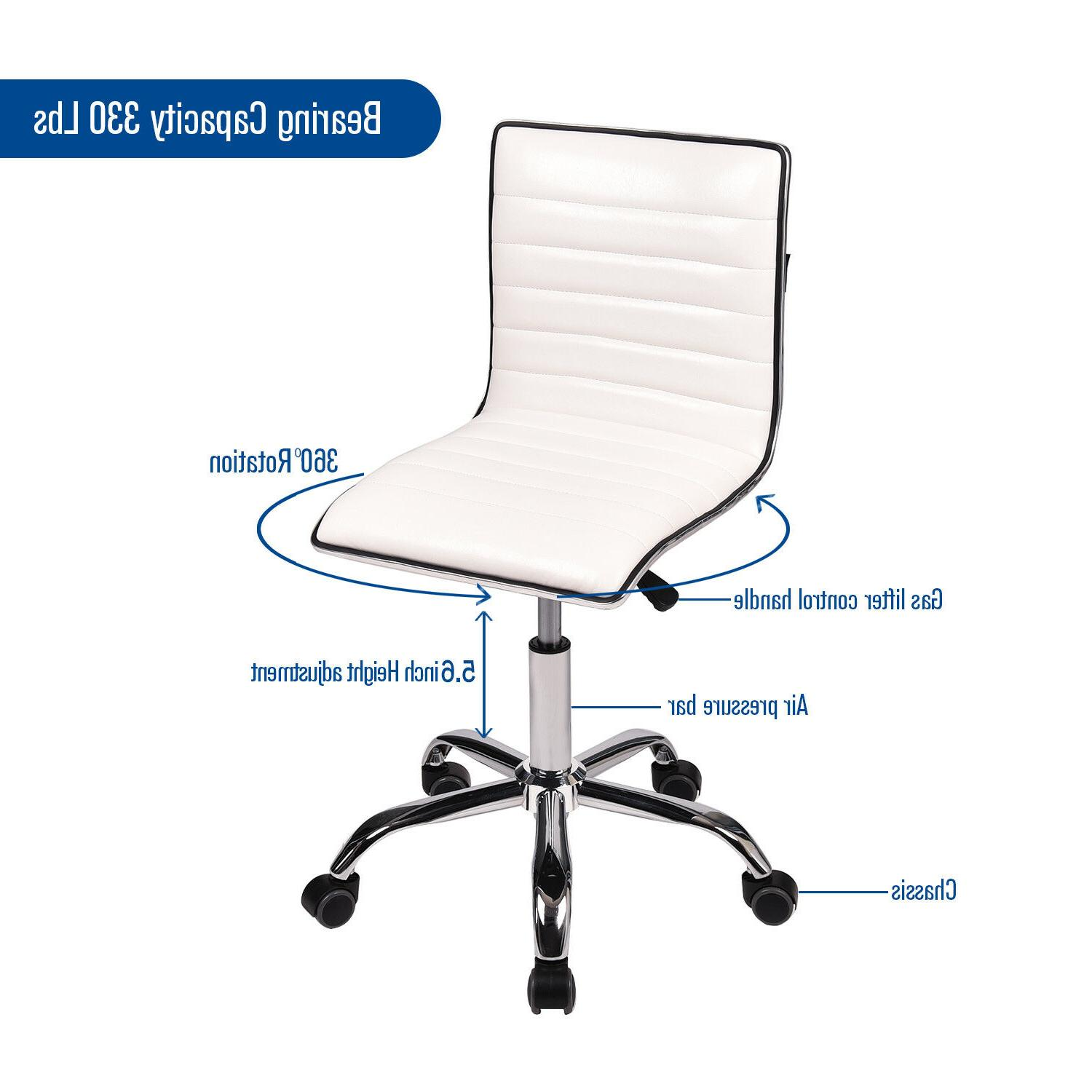 Office Task Executive Rolling Armless Back Leather
