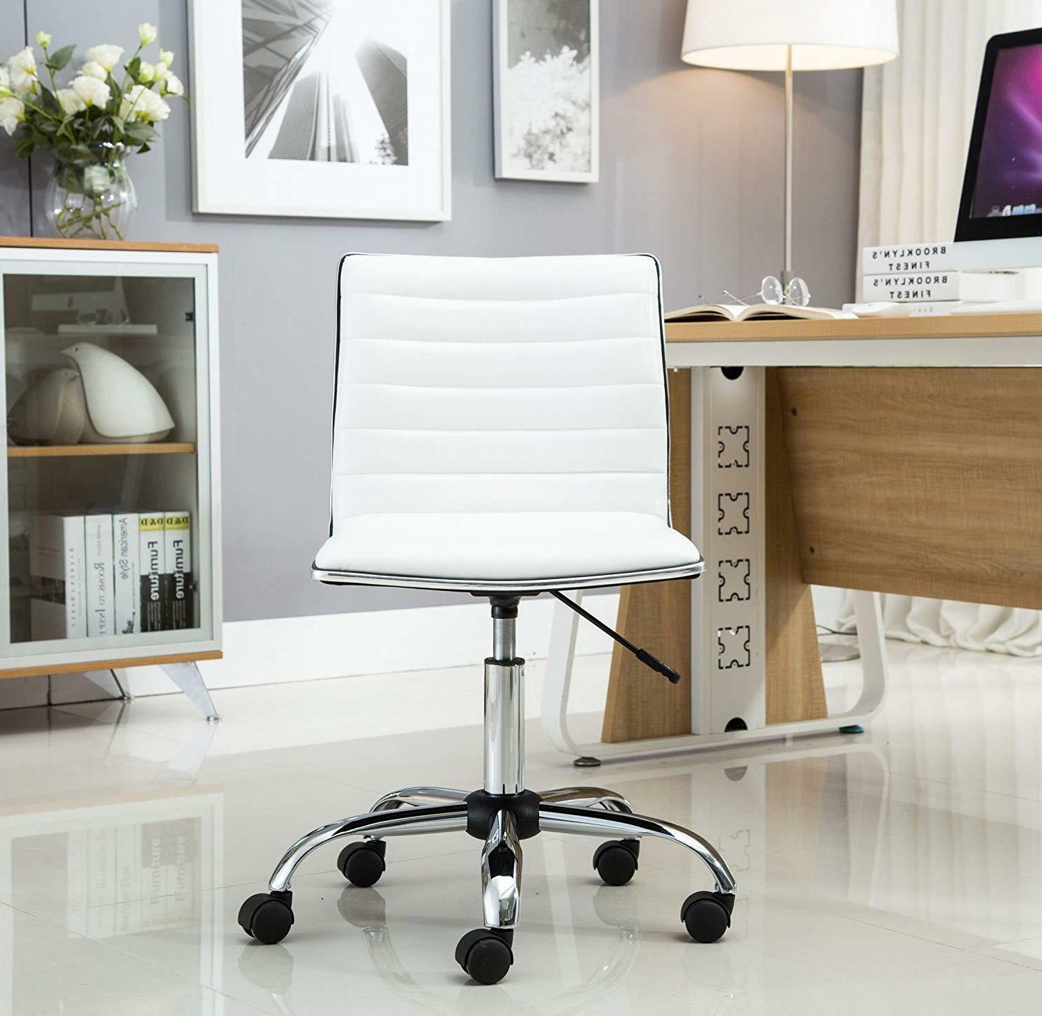 Office Rolling Stool Armless Back Swivel Seat