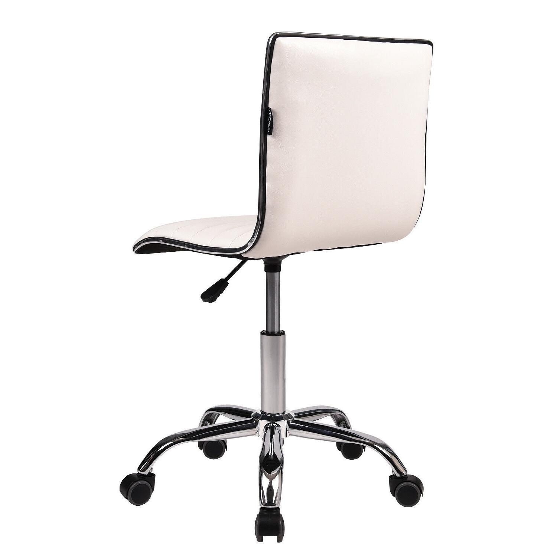 Office Task Rolling Stool Back Swivel Seat
