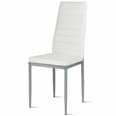 Set of Style PU Leather Dining Chairs Iron Chair