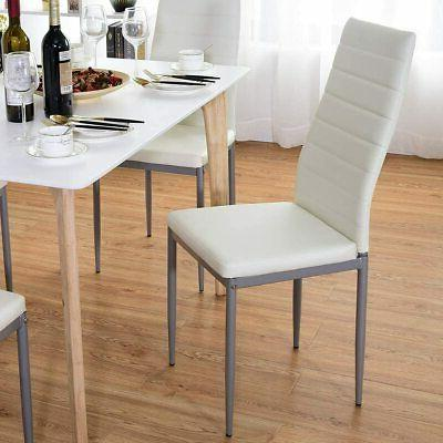 Set Style PU Leather Chairs Legs Chair