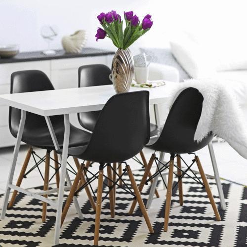 Set /1 Modern Side Chair Mid Century DSW Plastic