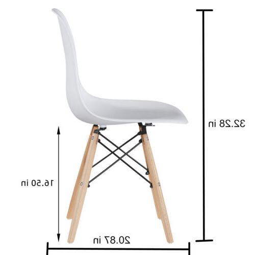 Set /1 Style Side Chair Mid Century DSW Plastic Wood Legs