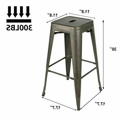 Set 4 30 inch Barstools Cafe Height Stool