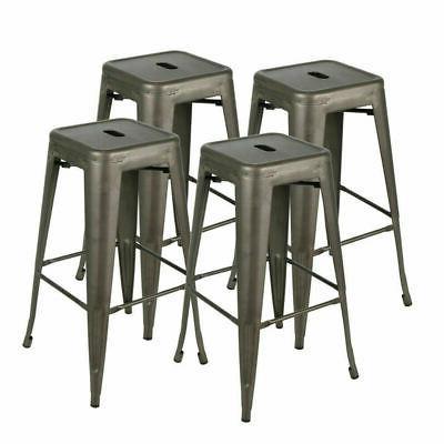 Set of 4 inch Metal Cafe Bar Counter Stool