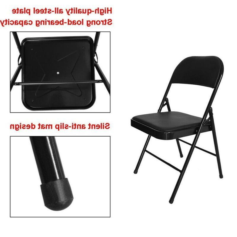 Black Upholstered Padded Seat Frame Office