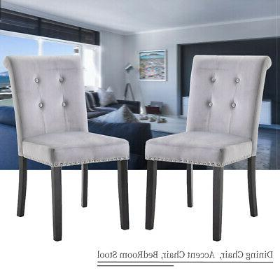 Set of Fabric Dining Chairs US