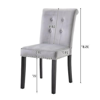 Set of Fabric Dining Velvet Upholstered Chair US