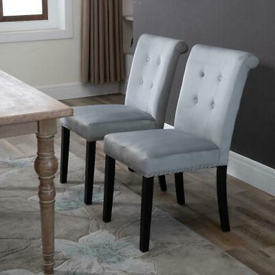 Set Fabric Chairs Velvet Accent US