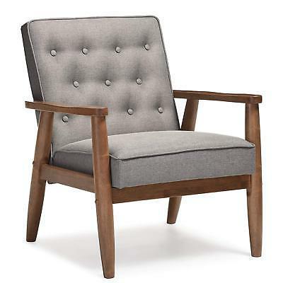 Baxton Studio Sorrento Mid-Century Retro Modern Fabric Uphol