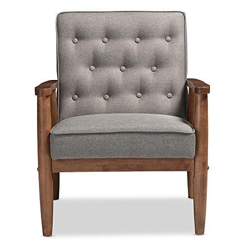 Baxton Studio Retro Modern Wooden Lounge Chair,