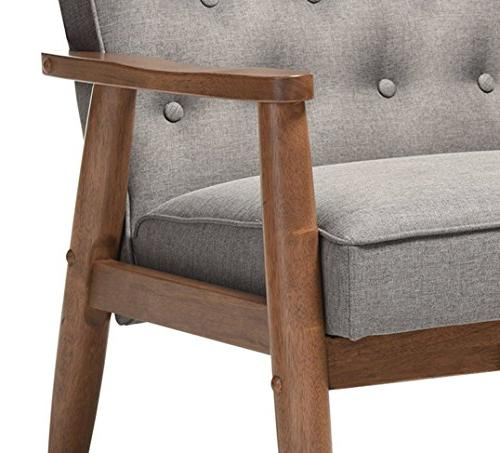 Baxton Studio Sorrento Mid-Century Retro Modern Wooden Chair,