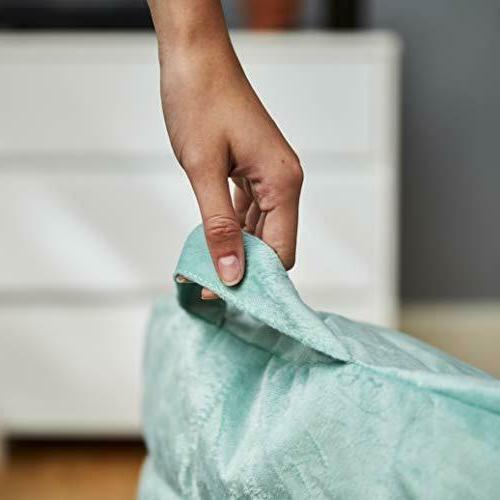 Big Joe Stack Turquoise Plush Bag - x