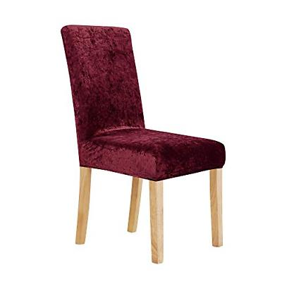 Deconovo Stretchy Velvet Chair Covers Removable Wedding Part