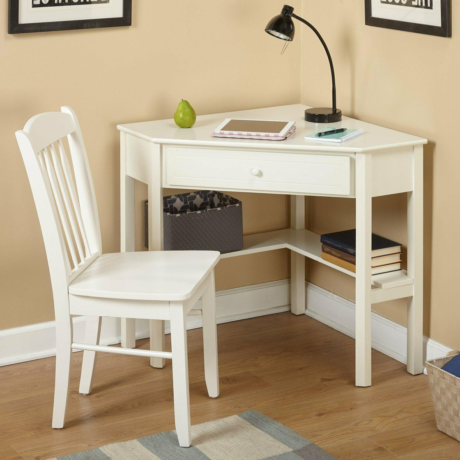 Student Desk Chair with Storage Drawer and Organizer