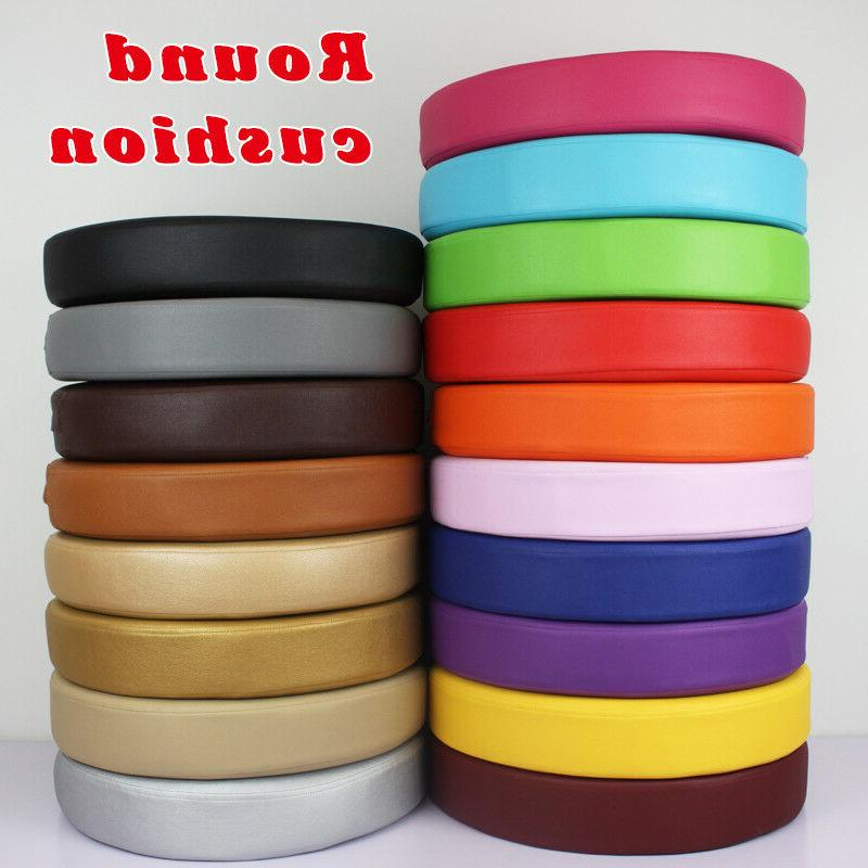 synthetic leather round seat cushion chair pads